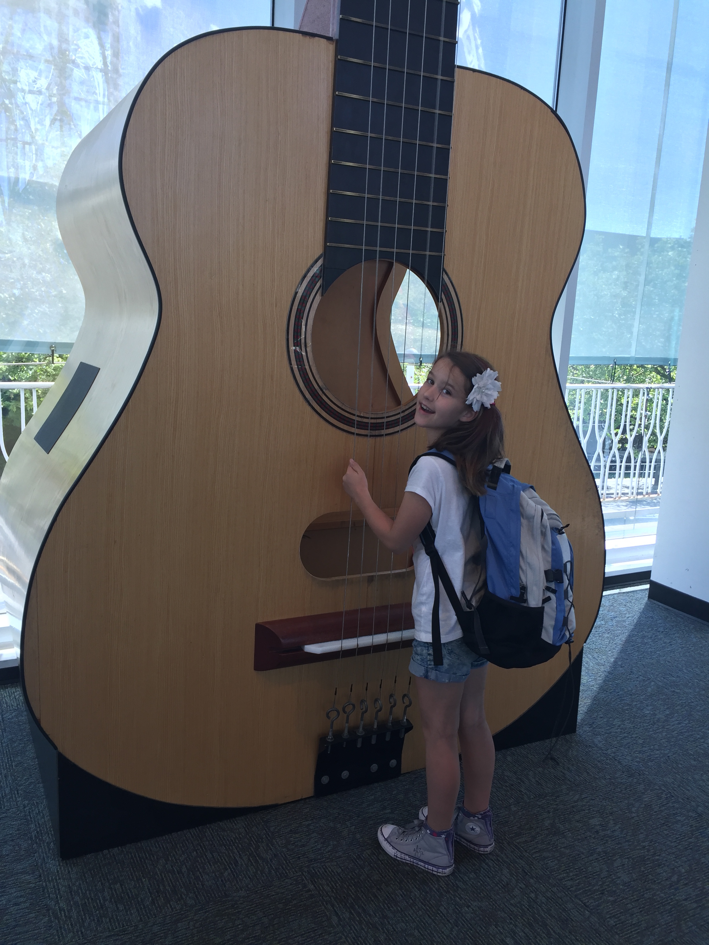 Abby big guitar