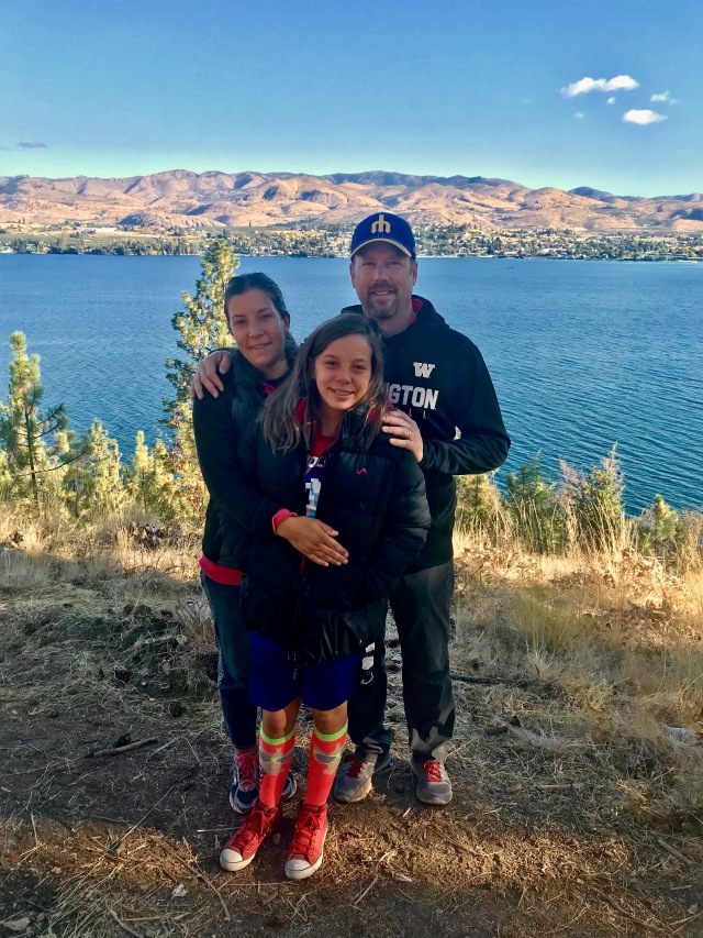 jeff, me and mikayla at lake chelan